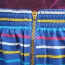 niebieska spódniczka w paski