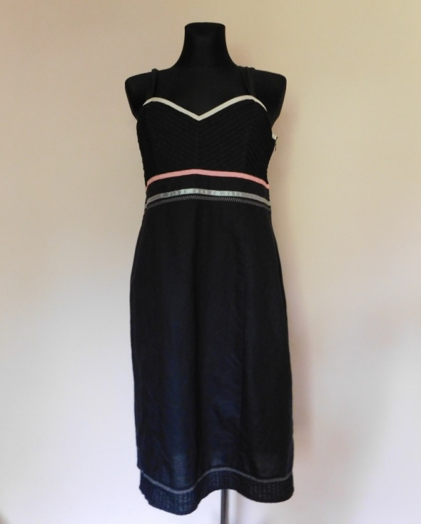 Suknie i sukienki Next sukienka czarna midi letnia 44