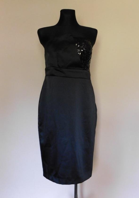 Suknie i sukienki George czarna sukienka midi 42