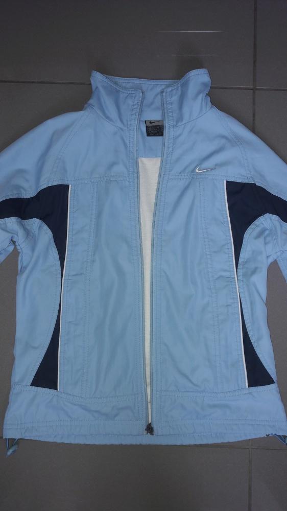Niebieska rozpinana bluza Nike S...