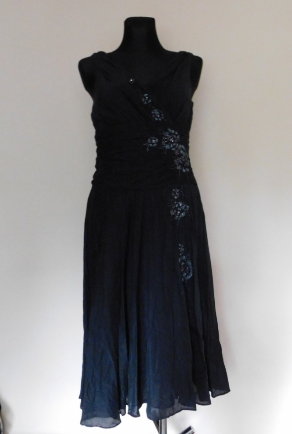 Monsoon czarna sukienka midi 40...