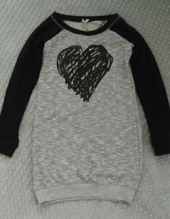 Bluza tunika sukienka dresowa serce Chillin Cropp S