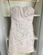 Sukienka drapowana rozm 38 pudrowy róż sexy rozm 38 wesele mini