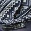 Granatowa bluzka w azteckie wzory r 40