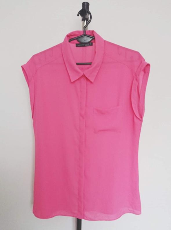 Atmosphere różowa koszula mgiełka na krótki rękaw...