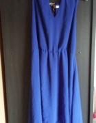 Sukienka asymetryczna New Look 42 niebieska...
