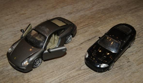 Autka samochody zestaw srebrny czarny...