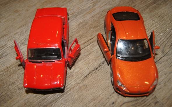 Autka samochody zestaw pomarańczowy czerwony...