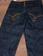 Ciemne szerokie jeansy 27 32...