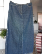 Next długa jeansowa spódnica retro vintage jeans denim...