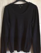 Czarny Sweter z Długim Rękawem H&M BASIC...