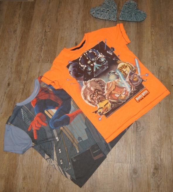 Bluzki Bluzeczka koszulka zestaw Spiderman Angry Birds rozm 116 122