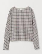 Luźny sweterek H&M NOWY kratka pepitka S...