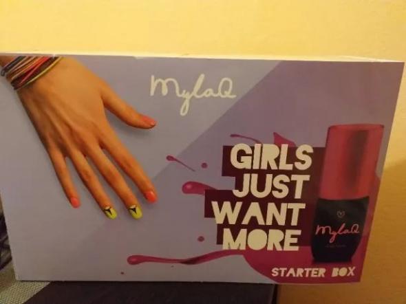 MylaQ zestaw do manicure hybrydowego Girls Just Want More starter box