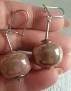 kolczyki srebrne z kamieniem...