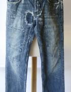 Spodnie Męskie D&G Dolce&Gabbana Przetarcia 33 L 40 Dzinsowe Re...