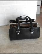 Zara czarna torebka doctor bag kuferek...
