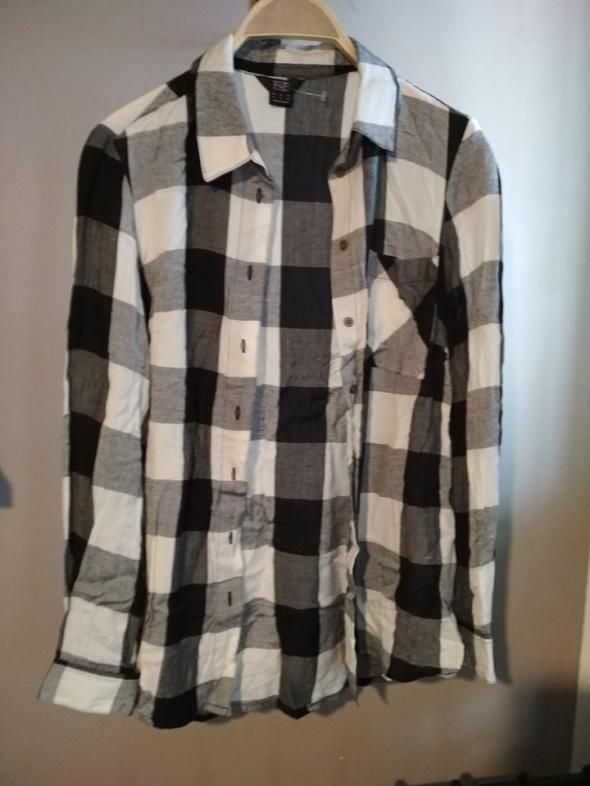 Koszule Koszula w kratę czarno biała 36 FF długi rękaw
