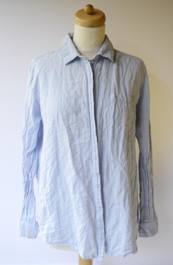 Koszula Bawełna Niebieska mbyM L 40 Elegancka Pracy...