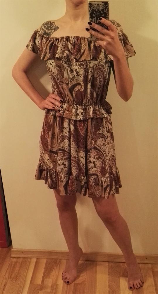 Mohito sukienka paisley carmen falbana 36 S