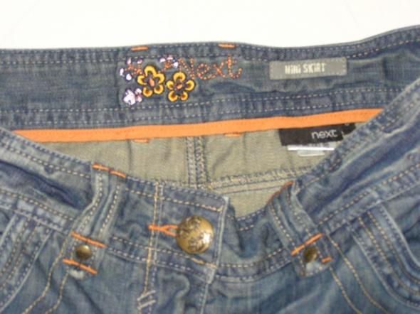Spódnice NEXT mini jeansowa spódniczka z zamkami