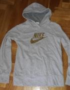 Szara bluza w pask Nike S z kapturem...