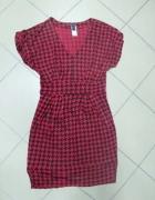 Sukienka ołówkowa Mango czerwona pepitka 40 L...