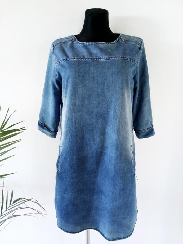 Jeansowa tunika z kieszeniami L XL