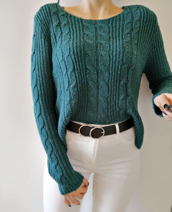 Swetry Terranova Sweter damski oversize zieleń M
