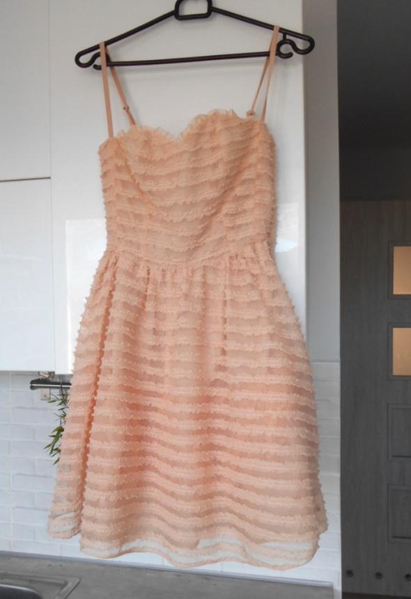 Suknie i sukienki Atmosphere tiulowa sukienka gorsetowa wesele pudrowa tiul