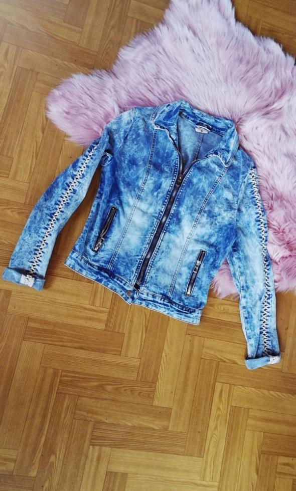 Modna kurteczka kurtka jeans ramoneska