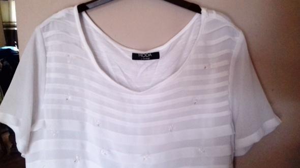 Bluzki biała bluzka z kryształkami George 46
