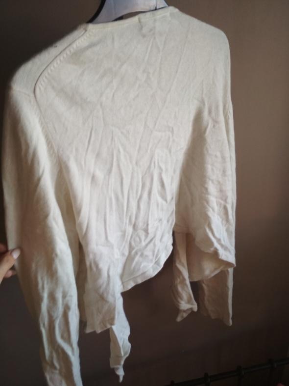 Kaszmirowy sweterek MARCS SPENCER narzutka jasny XXXL wiązany...