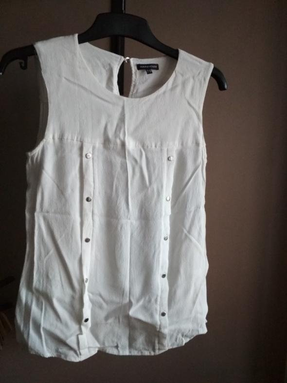 Biała bluzka wizytowa 38 M warehouse bez rękawów...