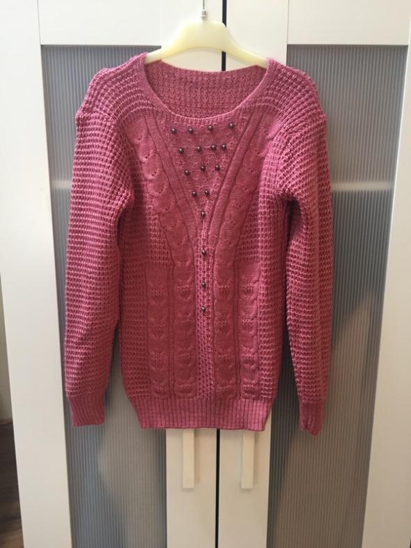 Nowy sweter perełki XS S