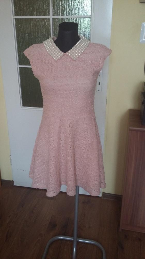 Sukienka pudrowy róż M river Island