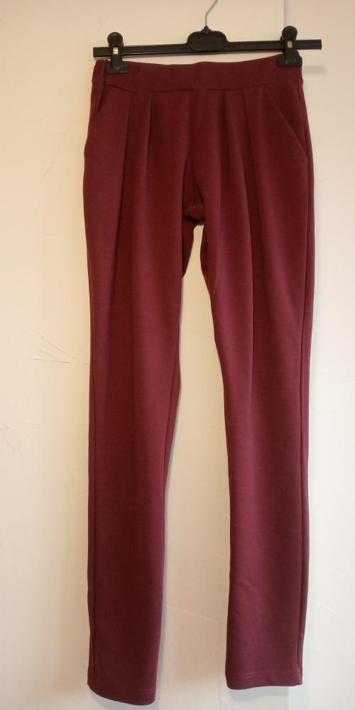 Eleganckie spodnie TERRANOVA pantalony bordowe...