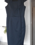 FF granatowa sukienka ołówkowa elegancka midi...