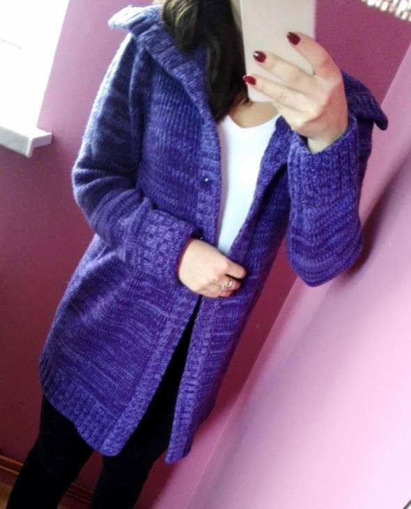 Sweter kadrigan H&M placiony narzutka rozmiar S...