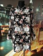 new look koszula mgiełka luźny fason kwiaty floral 38 M...
