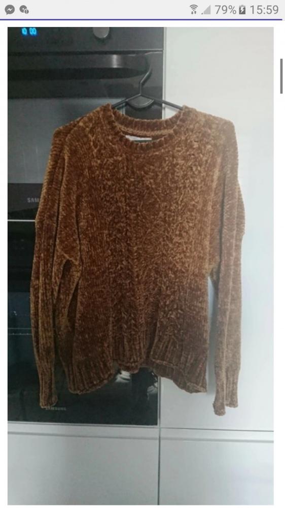 Miękki sweter damski złoty M...