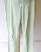 Spodnie H&M Mama Rurki Miętowe Ciążowe XL 42 Ciąża...