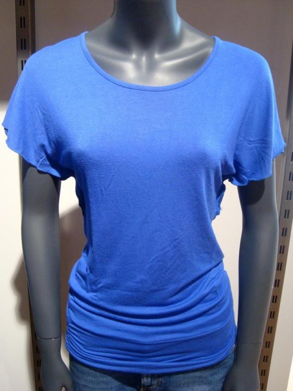 Kobaltowa Luźniejsza Bluzka Tunika S