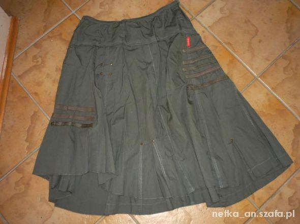 Spódnice rozm 38 M cienka spódnica na lato ASYMETRYCZNA jak