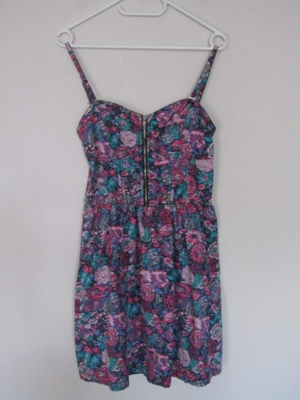 sukienka zip floral...