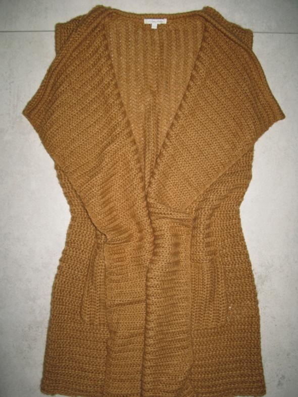 HAPPY HOLLY brązowy sweterek pulower kardigan damski roz 34...