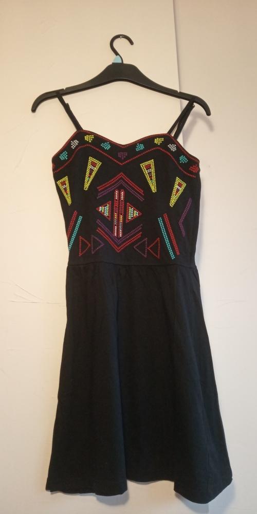 Sukienka czarna ze wzorami Ocean Club PRIMARK rozmiar 34 36