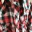 Koszula STRADIVARIUS w kratę S czerwona czarna biała