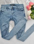 C&A Spodnie Jeansy Dżinsy Rurki Marmurki Przeszycia Super Skinn...