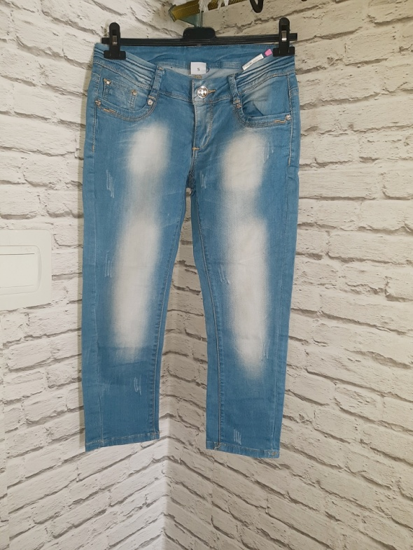 Spodnie jeansy do kostek...